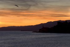 Sunset In Genoa Royalty Free Stock Image