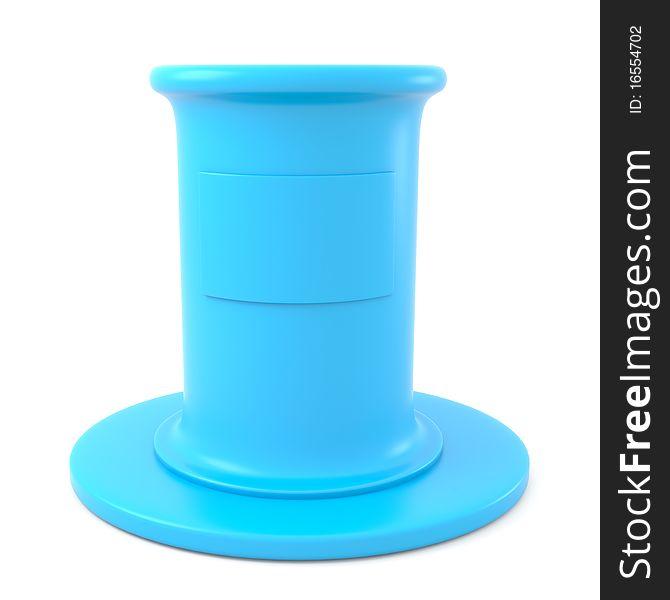 Blue pedestal