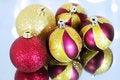 Free Five Christmas Balls Royalty Free Stock Image - 16560106