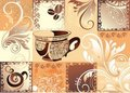 Free Vector Coffee Background With Butterfly Royalty Free Stock Photos - 16562948