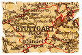 Free Stuttgart Old Map Stock Image - 16564101