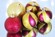 Free Five Christmas Balls Royalty Free Stock Image - 16560106