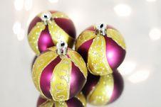 Free Three Red Christmas Ball Royalty Free Stock Image - 16560146