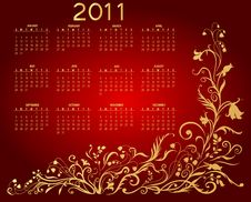 Free Calendar For 2011 Royalty Free Stock Photography - 16560987