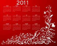 Free Calendar For 2011 Royalty Free Stock Image - 16561016