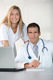 Free Portrait Of Medical Team Royalty Free Stock Photo - 16561265