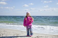Free Cute Young Girl Having Fun On The Beach Royalty Free Stock Photography - 16562087