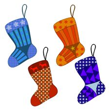Free Christmas Present Sock Set Stock Photos - 16562433