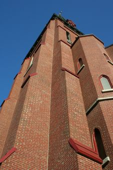 Free Tall Brick Church Steeple Stock Photo - 16562660