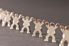 Free Man Shaped Tag Holder Stock Photo - 16563360