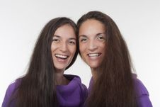 Free Two Sisters Smiling Stock Photography - 16563492
