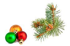 Free Christmas Balls And Pine-tree Royalty Free Stock Photography - 16563757