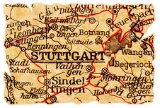 Free Stuttgart Old Map Stock Image - 16564101