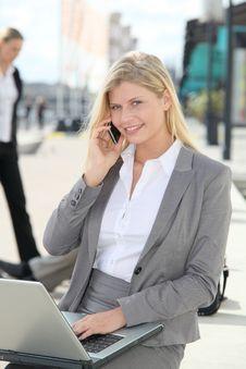 Free Businesswoman On The Phone Stock Photo - 16564460