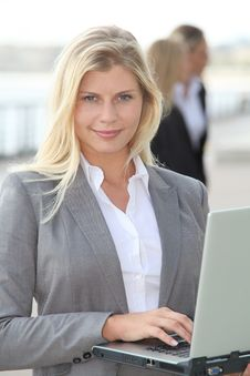 Free Portrait Of Beautiful Businesswoman Royalty Free Stock Photography - 16564487