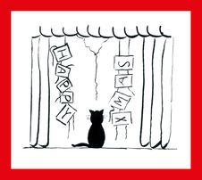 Free Christmas Cat Royalty Free Stock Photos - 16565188