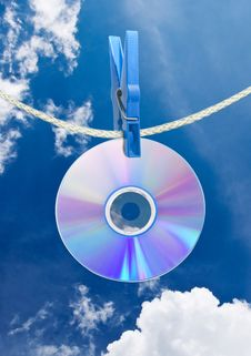 Free Cd On Rope Stock Photos - 16565193