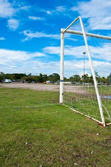 Free Football Field And Goal Stock Photo - 16565200