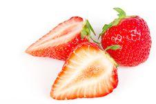 Free Strawberry Isolated On White Royalty Free Stock Photo - 16566015