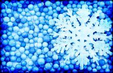 Free Snowflake On A Blue Background Royalty Free Stock Photos - 16566068