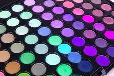 Free Multicolour Eyeshadows Palette Royalty Free Stock Photo - 16566275