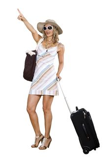 Free Woman On Vacation With Beach Bag Royalty Free Stock Images - 16567009