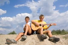 Free Songs Under  A Guitar Stock Photo - 16567100