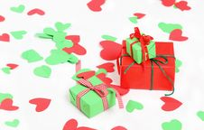 Free Hearts And Presents Royalty Free Stock Image - 16567356