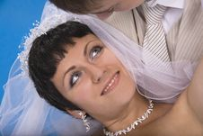 Groom And Beautiful Bride Stock Photography