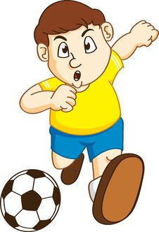 Free Boy Playing Soccer Stock Photo - 16568800