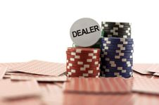 Free Poker Chips On The Cards Stock Image - 16568851