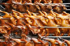 Barbecued Chicken Stock Images