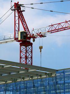 Crane And Yard Stock Photo