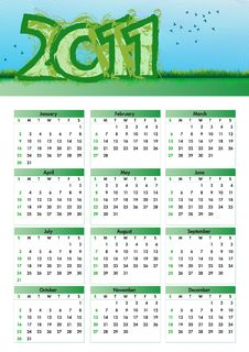 Free Environmentalism Calendar 2011 Stock Photography - 16569662