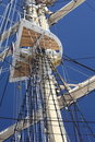 Free Ship Tackles, Rigging On A Old Frigate Stock Image - 16571741