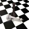 Free King Defeats King In Chess Game - 3d Image Stock Photography - 16573112