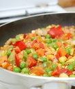 Free Pan With Vegetables In Kitchen Royalty Free Stock Photography - 16573417