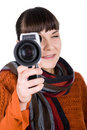 Free Woman With Camera Stock Photography - 16573502