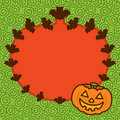 Free Halloween Pumpkin Frame Background Royalty Free Stock Photo - 16579665