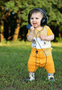 Free Little Boy With Headphones Smiling Royalty Free Stock Photography - 16579687