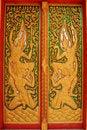 Free Thai Buddhist Temple Door Royalty Free Stock Photo - 16579695