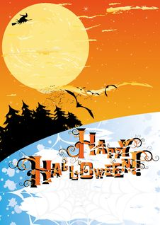 Free Halloween Card Royalty Free Stock Images - 16570939