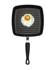 Free Fried Egg On Non Stick Frying Pan Royalty Free Stock Images - 16571019