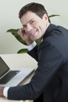 Free Businessman Working On Laptop Stock Image - 16571041