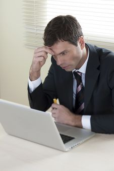 Free Businessman Working On Laptop Stock Photo - 16571100