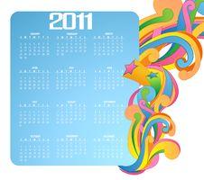 Free Calendar For 2011 Royalty Free Stock Photos - 16572018