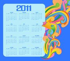 Free Calendar For 2011 Stock Photos - 16572033