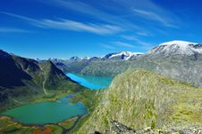 Free Picturesque Norway Mountain Landscape. Royalty Free Stock Photo - 16572835