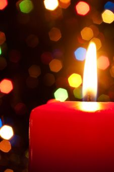 Free Candle On An Abstract Background Royalty Free Stock Photography - 16572947