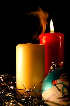 Free Two Candles And Sphere Stock Photo - 16572960